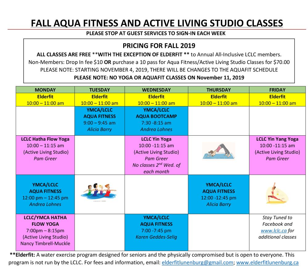 Aqua Fitness and Yoga Classes until Christmas web