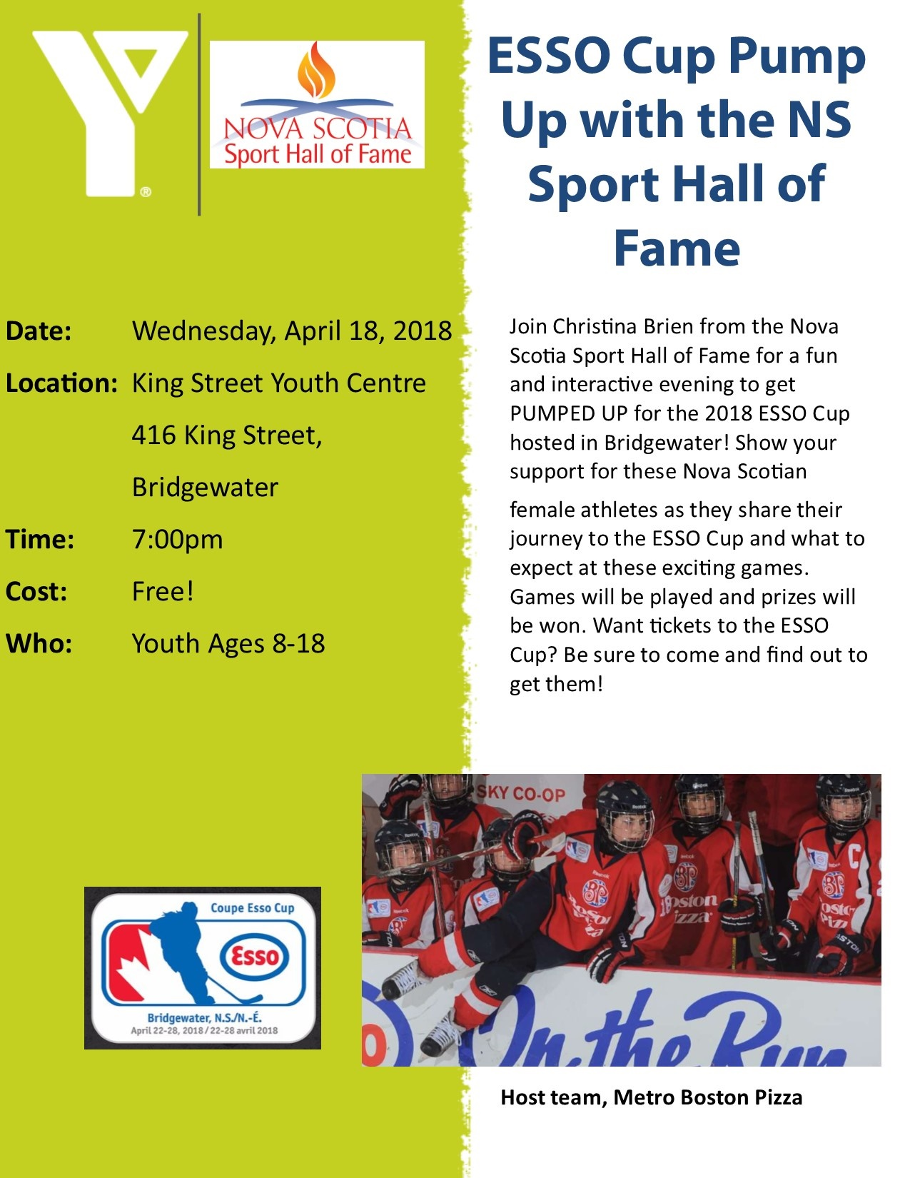 ESSO Cup Pump Up with the NS Sport Hall of Fame