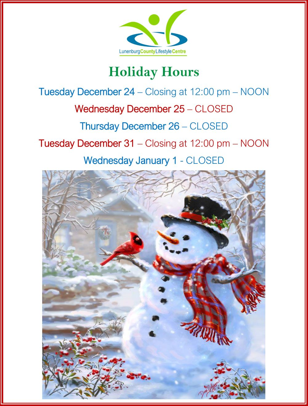 Holiday Hours 2019 web