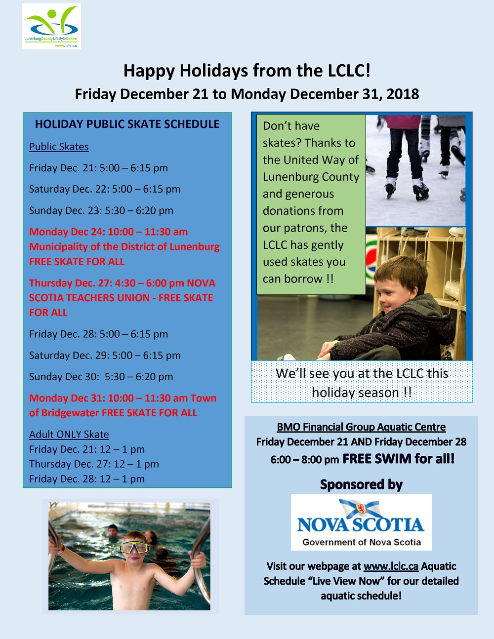 Holiday Week at the LCLC 2018 web