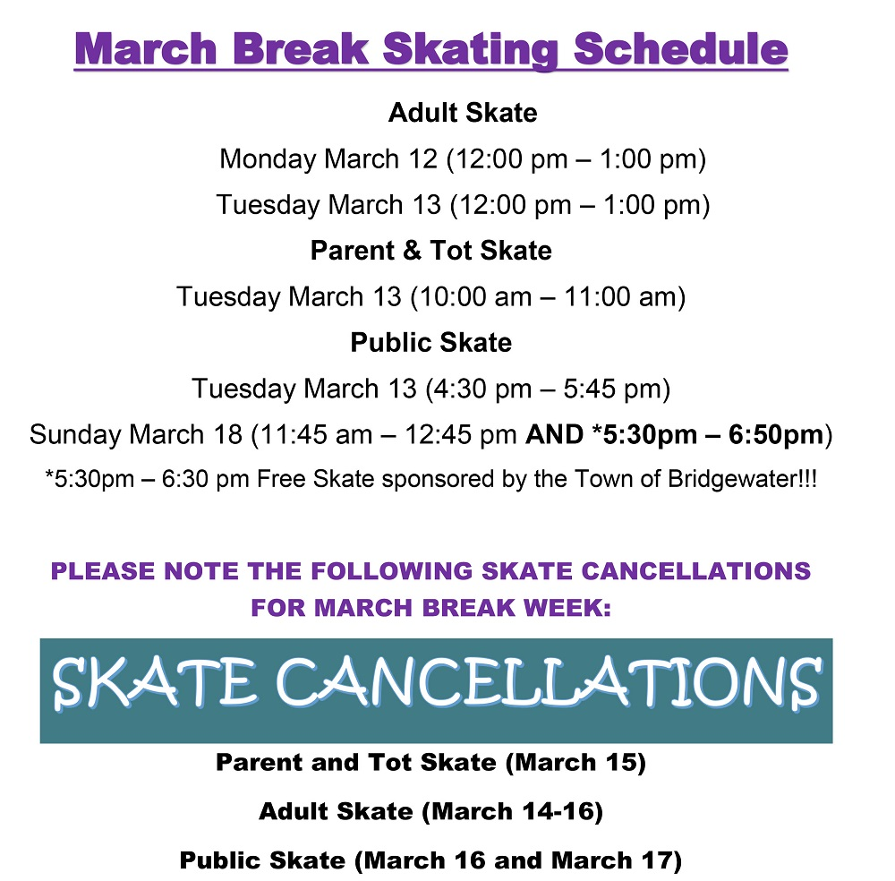 March Break Skating Schedule WEB