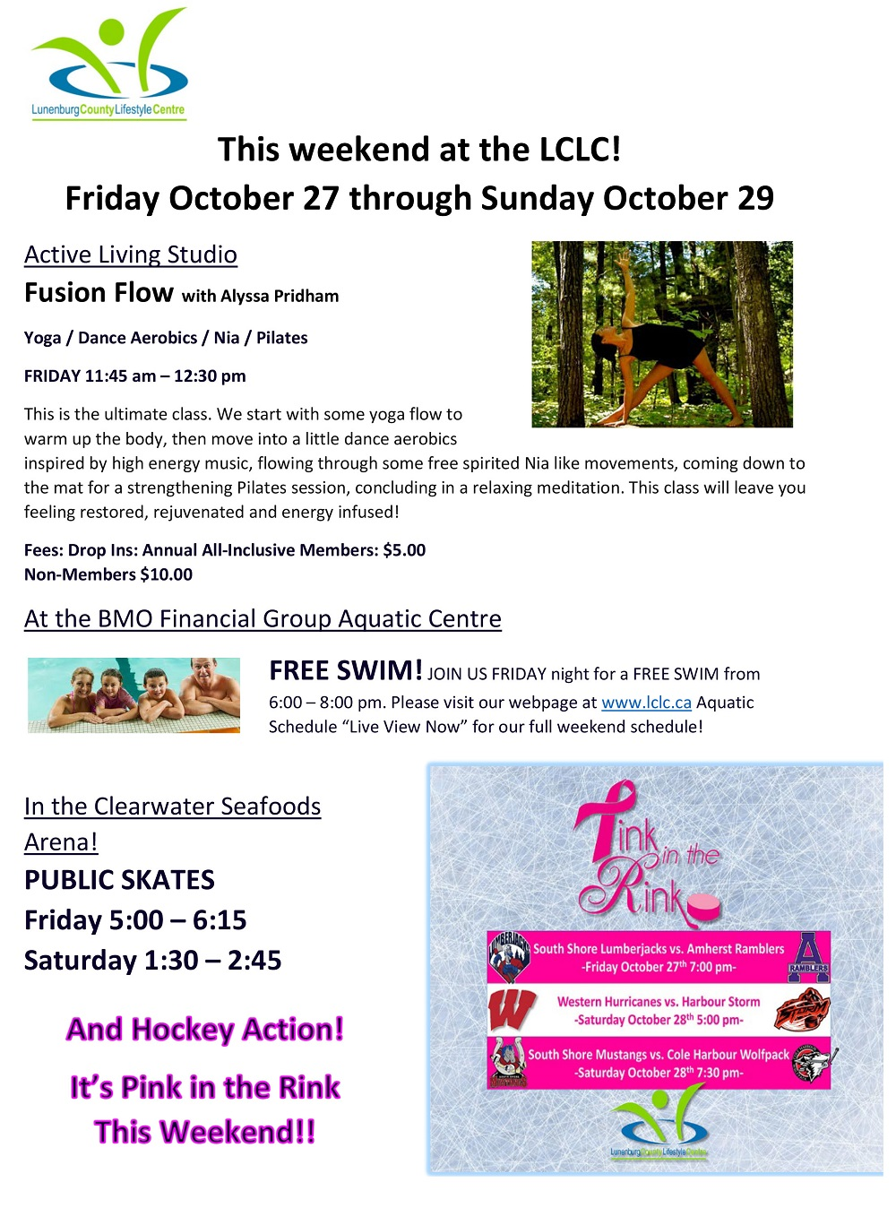 This weekend at the LCLC Oct 27 29 WEB