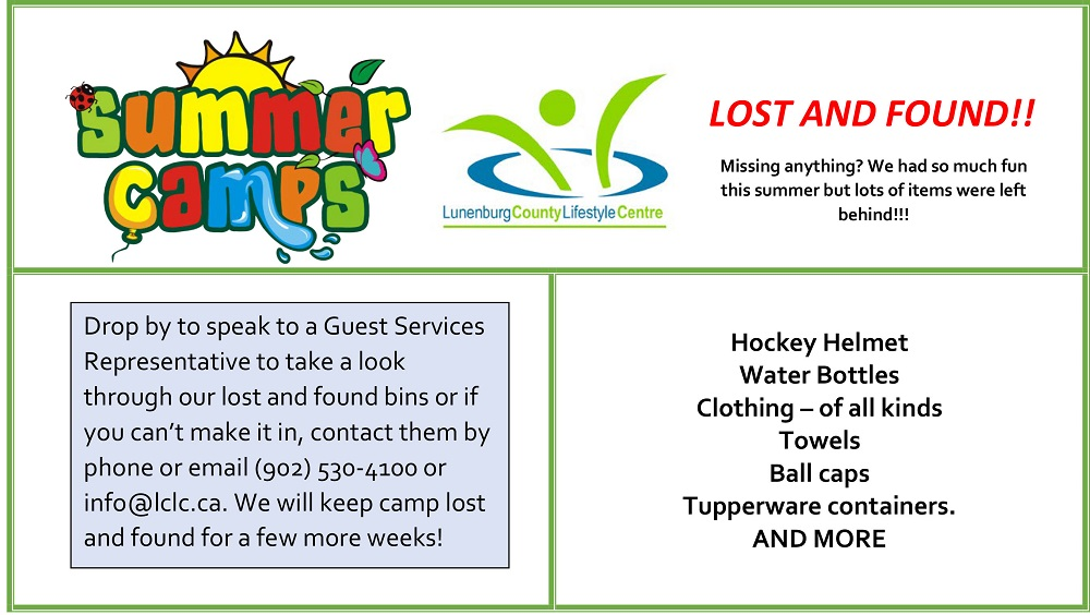 summer camps LOST AND FOUND web